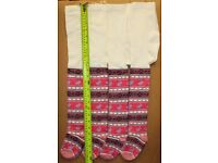 12 Doz 144 Pairs Girls Cream Tights 50p Pattern 60 cm Long 24 Inchs Approx Wholesale Job Lot Stock