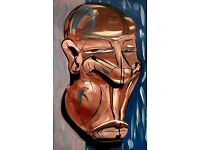 Exclusive art from Guto Caldas - painting face mask Africa