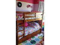 Chunky Wooden Solid Bunk Bed