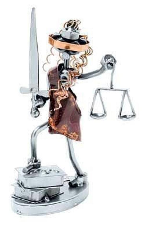 Schraubenmännchen Justizia für Anwälte, Richter, Renogehilfen in Großolbersdorf