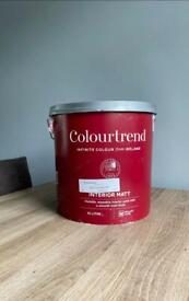 Colourtrend grey / 'Vintage Silver' matt. Quality high opacity paint for walls & ceilings 10 ltr
