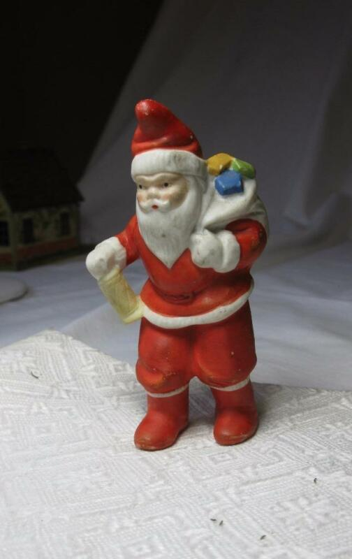 Large Santa Bisque Germany Snow Baby c1910 Vintage Christmas Holiday Rare