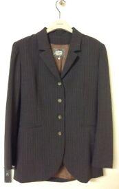 Alain Manoukian - Dark Brown pin stripe Pant Suit -size 38 (UK10) Made in France