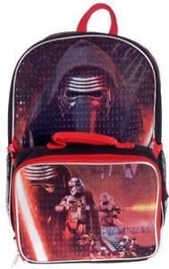 Star Wars Kylo Ren Deluxe Exclusive Kids School Backpack and Lunch Bag Set 15 inch