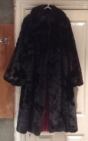 Vintage faux fur coat by Tissavel , France . Size small