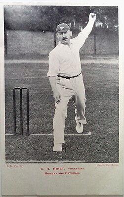 GEORGE HIRST ENGLAND TO AUSTRALIA 1903-4 CRICK POSTCARD