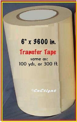 6 Application Transfer Paper Tape 300 Ft. Roll For Vinyl Cutter Plotter Fresh