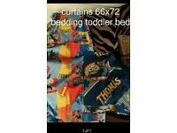 Thomas toddler bedding and curtains