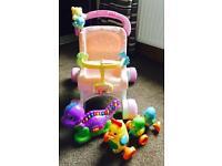 Baby toy bundle (FP stroller/tomy ducks/ LF lettersaurus)