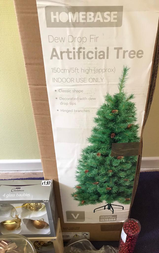Homebase Christmas tree, lights and decorations - Homebase Christmas Tree, Lights And Decorations In Wilnecote