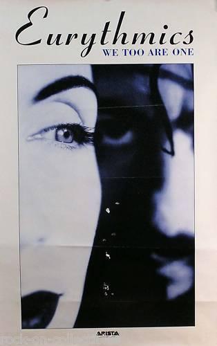 Eurythmics 1987 We Too Are One Original Promo Poster