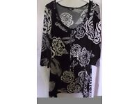 Marks & Spencer black and white top. Size 12. Nice condition