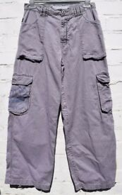 "Animal Large Boys, Girls Men's or Ladies Grey Cargo Style Surfer Trousers / Thin Jeans W30"" & L29"""
