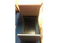 office pedestal filing cabinet metal grey with white top