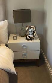 Bed side table x 2 high quality NEW from Luxury ££££ show home