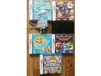 Nintendo dsi black 5 games and charger no pen