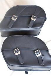 Triumph leather panniers
