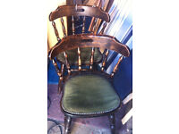 vintage dining kitchen chair with fabric cover