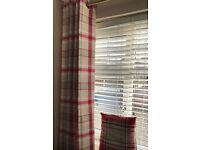 Red Checked Curtains / Pillow Cases