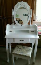 SOLD OUT !!! - Dressing Table MIADOMODO (with 3 drawers). White color. Like NEW, not used!!!