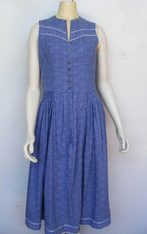 Alphorn Original German Calico Dress Frock Dirndl Bavarian Classic Costume S M