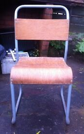 Wood and Metal Vintage SchoolChairs village hall chairs Pub etc