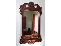 Superb Large Antique Victorian Mahogany Mirror Late 19thC
