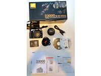 Nikon D3000 10.2MP DSLR Camera with 18-55 VR Kit Lens (STILL IN ORINGIAL BOX & DOCS)