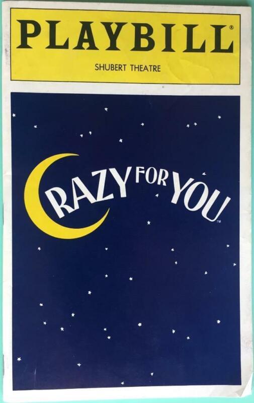 Playbill Crazy For You Jodi Benson Harry Groener Beth Leavel  Michele Pawk  1993