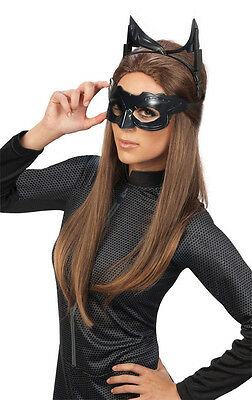 ADULT CATWOMAN CAT WOMAN COSTUME MASK EARS GOGGLE SET DARK KNIGHT RISES BLACK - Catwoman Adult Costume