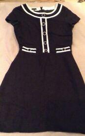A smart linen mix dress by Hobbs. Size 10