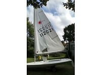 Laser 1 dinghy and combi road trailer with towbar extension for 4 bikes : £1100