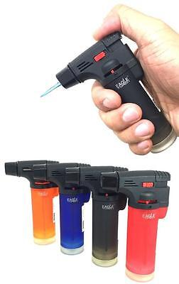 4 Pack Eagle Jet Torch Gun Lighter Adjustable Flame Butane Refillable