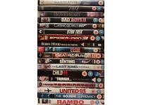 DVDs - job lot of around 60 movies and 20 different TV box sets - an eclectic collection!