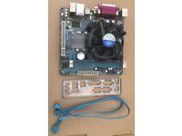 Gigabyte GA-H61N-D2V Motherboard with i3-2120 3GHz cpu +,2 GB RAM I/O shield & Intel heatsink/fan