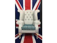 Bespoke Queen Anne wingback Armchair