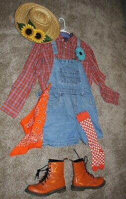 Adult Homemade Rodeo Clown Halloween Costume - Size M/L - 6 pc. set