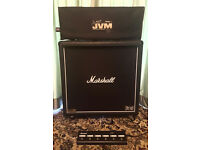 Marshall JVM 410H 100W Guitar Amp and 4x10 Cab