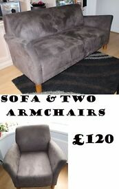 Sofa With Two ArmChairs