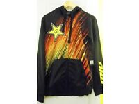 Mens One Industries RockStar Satelute Hooded Long Sleeved Jersey. Black. Size Small