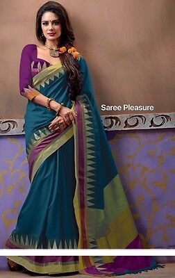 Sari Saree Bollywood Kleid Salwar Kameez Anarkali Indisch Kostüm Blau  - Blaue Indische Kostüm