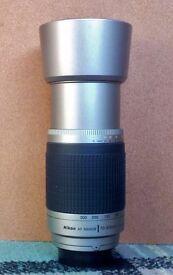NIKON AF Nikkor 70-300mm 1:4-5.6 G lens and Kenko Teleplus DGX 2X MC4 Teleconverter for Nikon