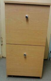 Beech 2 Drawer Filling Cabinet