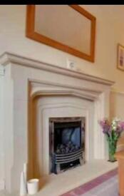 Fireplace surround - sandstone