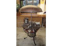 Copper kettle barbecue/patio heater.