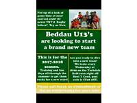 Beddau u13 rugby club looking for players