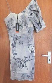 BNWT Karen Millen Silk Butterfly Dress - Size 16