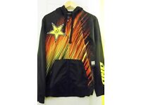 Mens One Industries RockStar Satelute Hooded Long Sleeved Jersey. Black. Size S