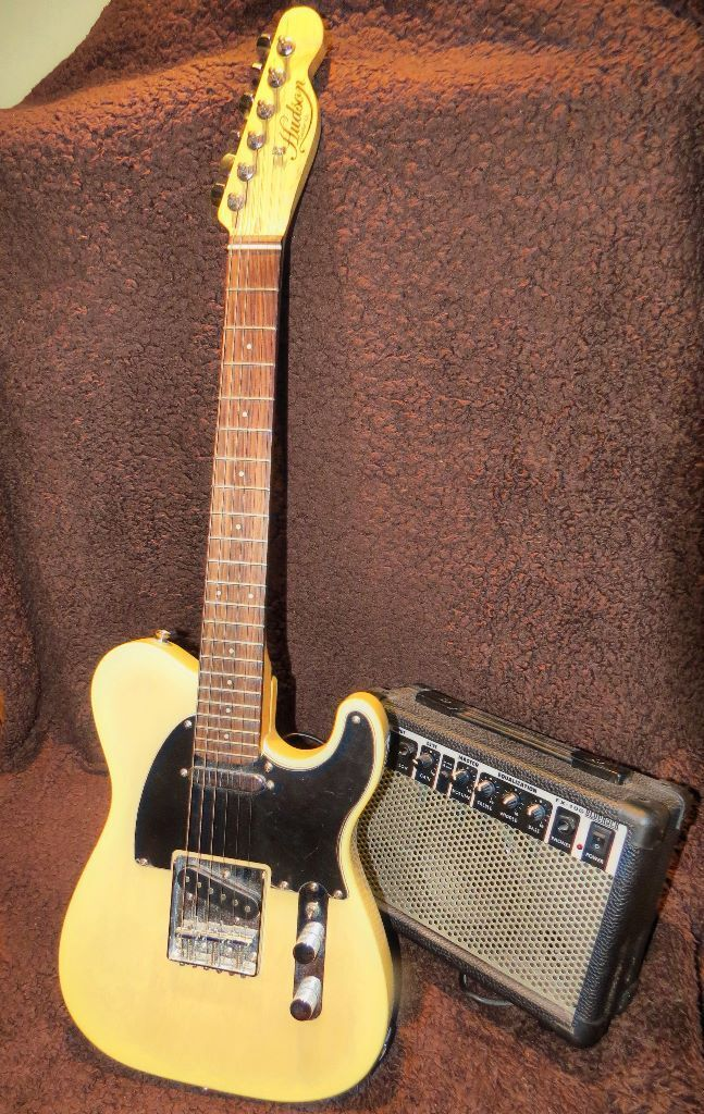 Electric Guitar Small Scale Telecaster By Hudson And Amp Set