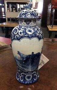 Antique Delft Blue Jar